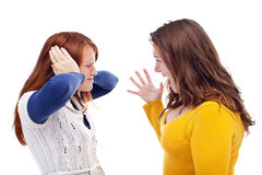Quarreling teens Royalty Free Stock Photography