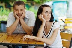 Quarrelled couple Stock Photo