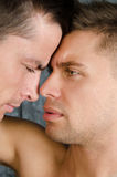 Quarrels and kisses. Love and relationships. Two guys. stock photography