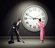 Quarrelsome wife and husband Royalty Free Stock Images
