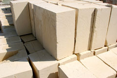 Quarried Limestone. Maltese blocks of dressed limestone ready for the builder Royalty Free Stock Photos