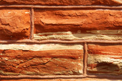 Quarried Red Sandstone Stock Image