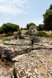 Quarries of Cusa, archaeological park, sicily Royalty Free Stock Photo
