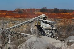 quarry утес стоковое фото rf