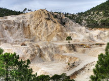 Quarry. Outdoor quarry in the province of Albacete, Spain Stock Photos