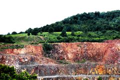 Quarry. A quarry still in operation from Tusnad, Romania royalty free stock image