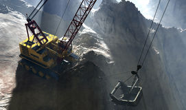 The quarry. Excavators working in the quarry Stock Images