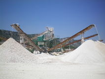 Quarry. Photo of a quarry in operation Royalty Free Stock Photos