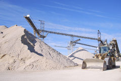 Quarry. Machine in a stone quarry Royalty Free Stock Photo