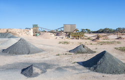Quarry and Asphalt Processing Plant. Royalty Free Stock Photo