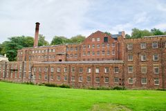 Facade of the mill. Quarry bank mill wilmslow Cheshire England united kingdom stock images