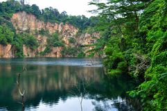 Quarry at Bukit Timah, Singapore Royalty Free Stock Images
