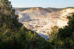 Quarry career industry forest mountain excavation mining works. Stock Photography