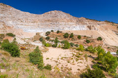 Quarry on the coast of Crete Stock Photography