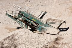 Quarry conveyor belt machine Stock Photos