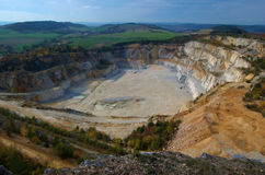 Quarry in countryside Royalty Free Stock Photos