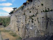 Quarry crossbowmen, Republic of San Marino royalty free stock photos