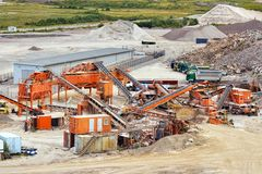 Quarry crusher plant Royalty Free Stock Images