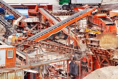 Quarry crusher plant Royalty Free Stock Image