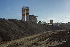 Quarry crusher plant in sand and gravel production Stock Photo
