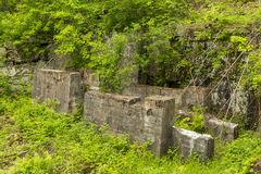 Quarry Crusher Remains Stock Image