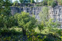 Quarry between Darmsheim and Dagersheim in Sindelfingen Germany,. A Natural Reserve Stock Photo