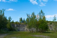 Quarry between Darmsheim and Dagersheim in Sindelfingen Germany,. A Natural Reserve Royalty Free Stock Photos