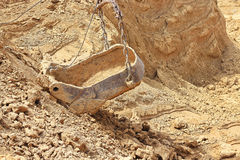 Quarry on the development of clay for brick production Royalty Free Stock Images