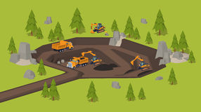 Quarry. Dig site Royalty Free Stock Photo