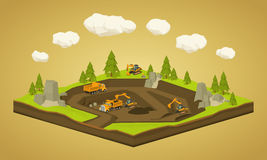 Quarry. Dig site Royalty Free Stock Image