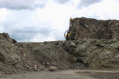 Quarry. Drilling rocks in Quarry Royalty Free Stock Photo