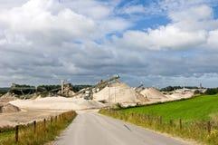 Quarry entrance Stock Image