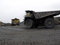 Quarry equipment for coal mining royalty free stock photo