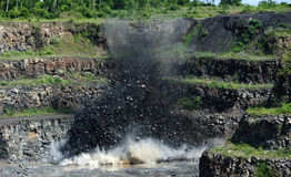 QUARRY EXPLOSION Stock Photography