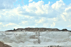 Quarry for the extraction of white sand. White sand used in glass production Royalty Free Stock Photo