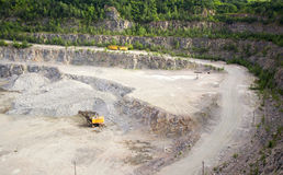 Quarry on getting of granite Stock Photos