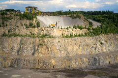 Quarry on getting of granite Stock Photo