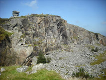 The quarry.. Granite quarry on Bodmin moor, Cornwall,UK. Stone has been obtained from these sites for millenia Royalty Free Stock Image