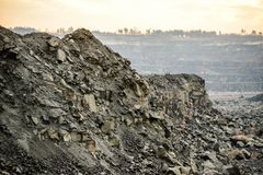 Quarry for granite mining Royalty Free Stock Photos