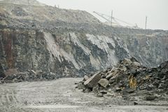 Quarry for granite mining Royalty Free Stock Photo