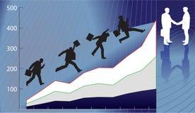 Quarry growth. Businessman try to get advantageous deal Stock Photos