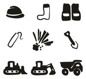 Quarry Icons Freehand Fill Stock Photo