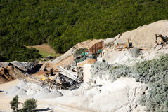 Quarry inert material royalty free stock images