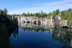 Quarry lake Royalty Free Stock Images