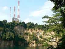 Quarry lake. At Bukit Timah nature reserve in Singapore Royalty Free Stock Photo