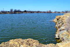 Quarry Lake, Fort Richardon State Park. This lake at Fort Richardson State Park near Jacksboro, Texas is a wonderful place to fish Stock Photo