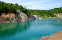Quarry landscape Royalty Free Stock Images