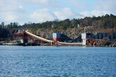 Quarry machinery Stock Image