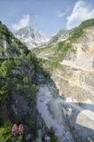 Quarry marble in the Apuan Alps Royalty Free Stock Image
