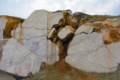 The quarry for marble mining Stock Photos
